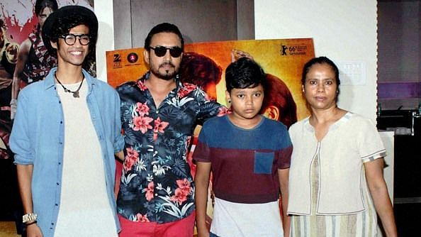 Irrfan Khan with his family