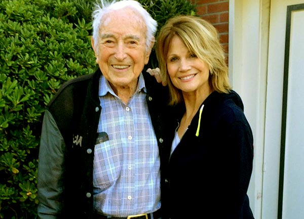 Markie Post and her father Dr. Richard F. Post
