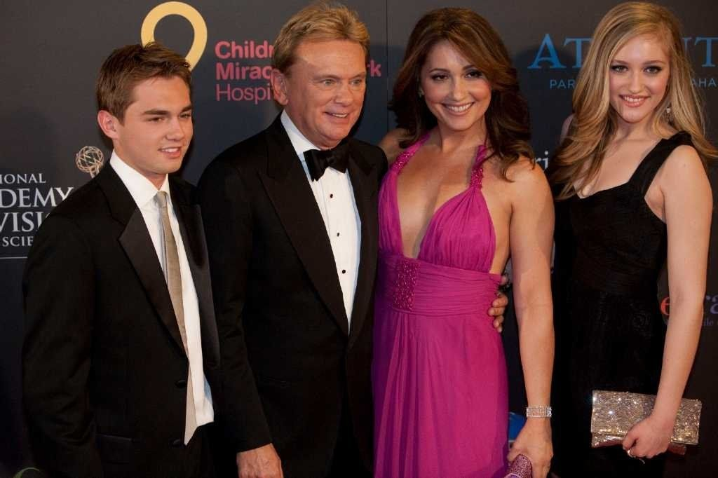 Pat Sajak's family with his second wife